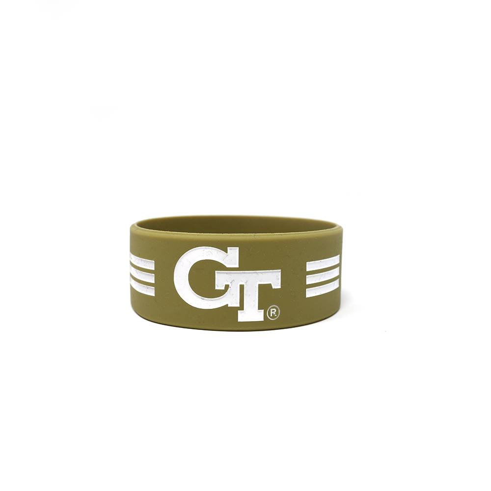 George Tech 1 inch green wristband.