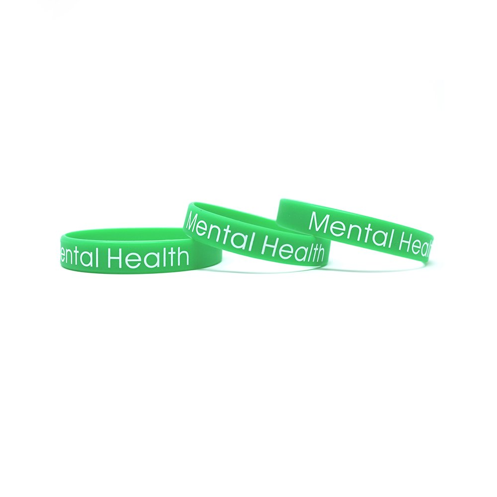 Mental health wristbands to help spread awareness.