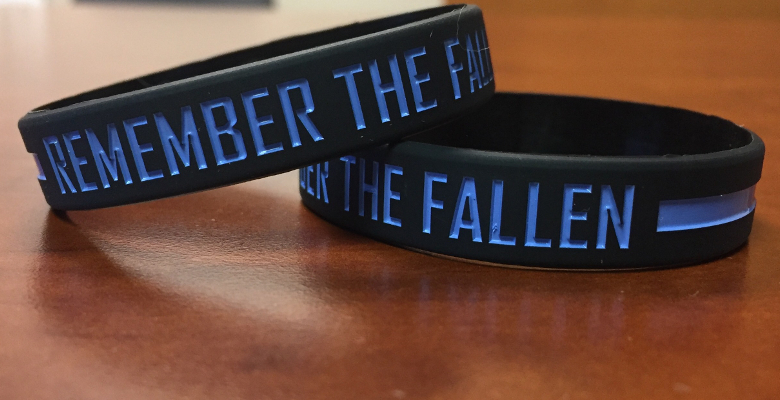 Silicone Military Wristbands Police Support Wristbands